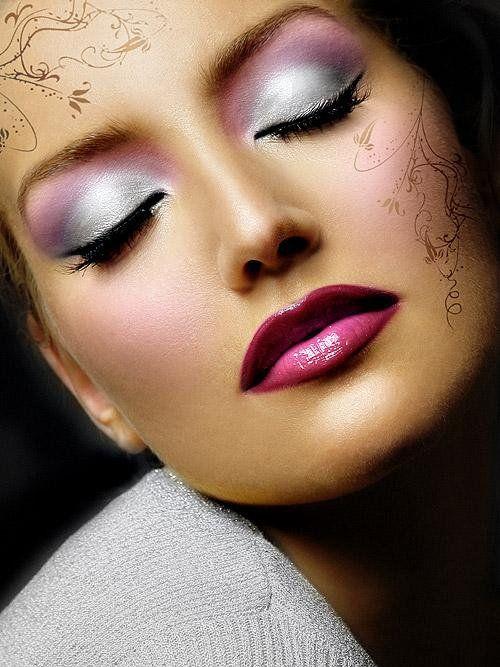 Sublime maquillage - Maquillage blanc visage ...